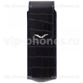 Кожаный чехол для Vertu Signature S Design Alligator Silver