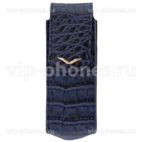 Кожаный чехол для Vertu Signature S Design Blue Alligator