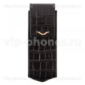 Кожаный чехол для Vertu Signature S Design Black Alligator