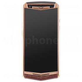 Vertu Aster P Gold Brown Crocodile Leather Exclusive